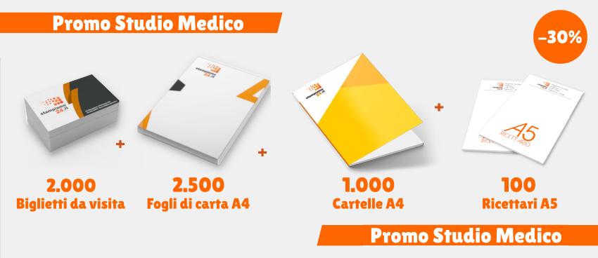 promo-studio-medico-iglietti-da-visita-carta-a4-cartelle-ricettari-a5